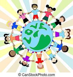 Kids Love Globe - Children from all around the world...