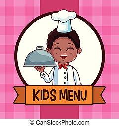 Kids menu cartoon
