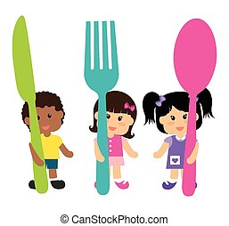Kids menu design. - Kids menu design over white background,...