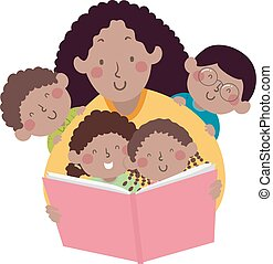 Kids Mom Teacher African Book Storytelling