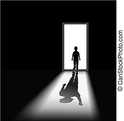 kid\'s nightmare - to illustrate a nightmare of kid, the...