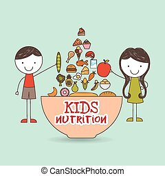 kids nutrition design, vector illustration eps10 graphic