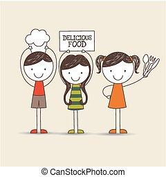 kids nutrition design, vector illustration eps10 graphic