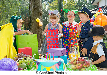 Kids on a dressing up party