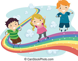 Kids on a Rainbow