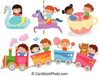 kids on fun rides