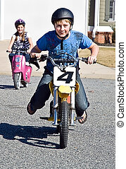 Kids on Motorcycles