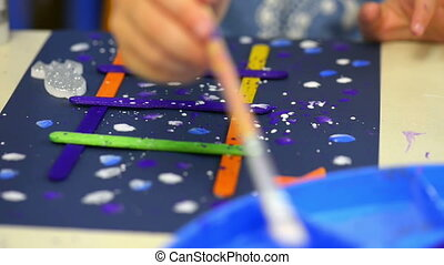 Kids Painting at Kindergarten