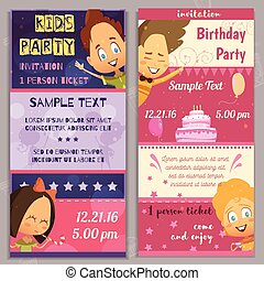 Kids Party Invitation Banners