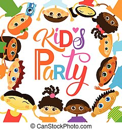Kids Party Invitation Holiday For Children Banner