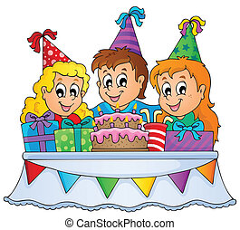 Kids party theme image 1 - eps10 vector illustration.