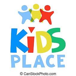 Kids Place Vector Logo Template. Vector illustration.