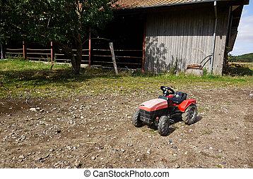 Kids plastic toy tractor - Kids children's plastic toy...