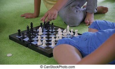 Kids Play Chess - Kids play chess unrecognizable boys slow ...