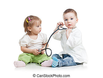 kids play doctor