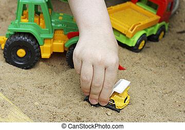 Kids play in the sandbox