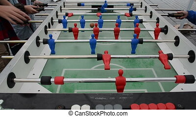 kids play table football