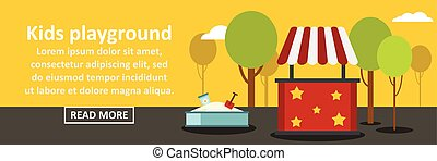 Kids playground banner horizontal concept