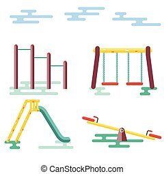 Kids Playground on White Background
