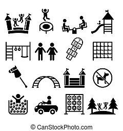 Kids playground, outdoor or indoor