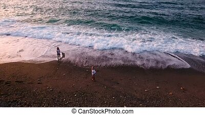 kids playing at beach