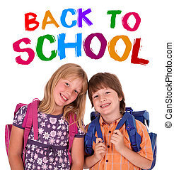 kids posing for back to school