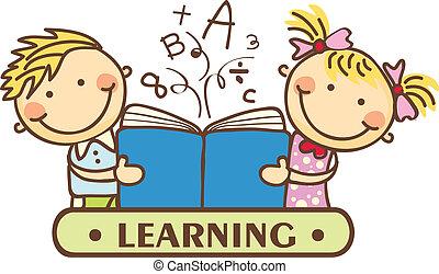 Kids - reading together