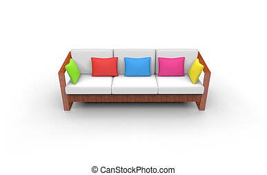Kids Room Bright Sofa Front View