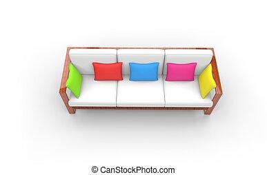 Kids Room Bright Sofa