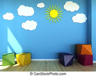 kids room interior scene