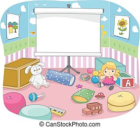 Kids Room Projection Screen Board