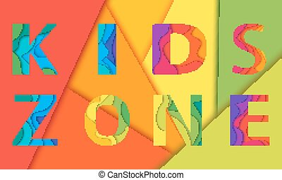 Kids room vector lettering