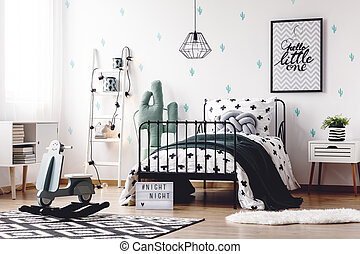 Kids room with rocking toy