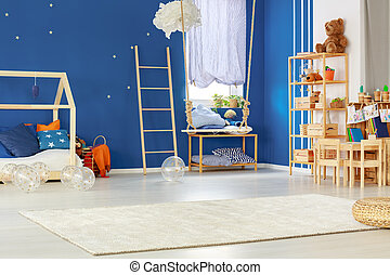 Kids room with swing