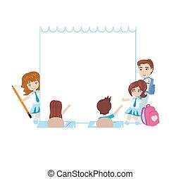 Kids school frame