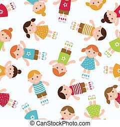Kids seamless pattern background.