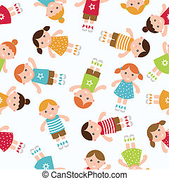 Kids seamless pattern background.