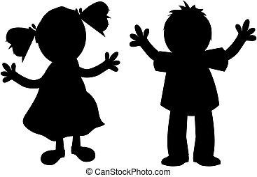 Kids silhouette