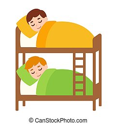 Kids sleeping in bunk bed - Little boys sleeping in bunk...