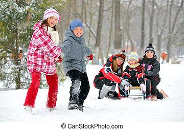 kids sliding