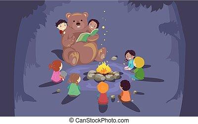 Kids Stickman Bear Story Teller