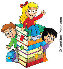 Kids thematic image 4 - eps10 vector illustration.