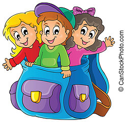 Kids thematic image 6 - eps10 vector illustration.