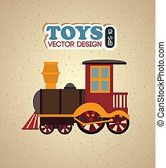 kids toys over beige background vector illustration