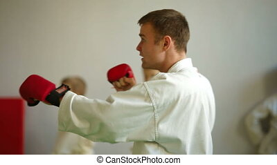 Kids  training martial arts