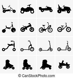 Kid's transport - Set of kid's transport