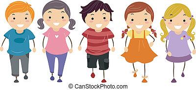 Kids Walking  - Illustration of Kids Walking in Front
