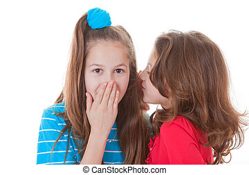 kids whispering secrets