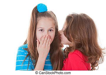 kids whispering secrets