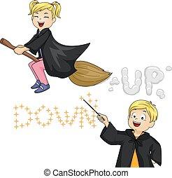 Kids Witch Magic Tricks Up Down
